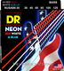 NUSAB6-30 NEON Red White and Blue 6 String Bass 30-125