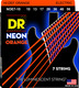NOE7-10  NEON Hi Def Orange 7 String Electric Medium 10-56