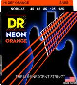 NOB5-45 NEON Hi Def Orange 5 String Bass Medium 45-125