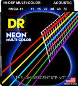NMCA-11 Multi Color Acoustic Guitar Custom Lite 11-50