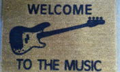 DR's Welcome to The Music Bass Doormat