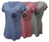 MICROBURN LADIES V-NECK TEE
