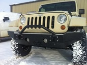 20-215-07 - 2007-2013 JEEP WRANGLER FRONT BASE BUMPER(Picture is shown with Push Bar Option)