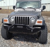 20-215-97 - 1997-2006 JEEP WRANGLER FRONT BASE BUMPER(Product shown is with Push Bar)