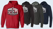 Iron Cross Canvas Hoodies-New Design
