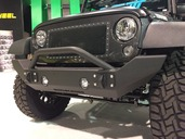 07-15 JEEP FULL SIZE FRONT BUMPER-WITH BAR(PICTURE SHOWN WITHOUT BAR) **LIGHT KIT SOLD SEPERATELY**