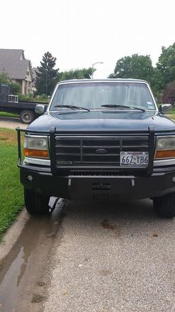 24-415-92 - 1992-1996 FORD  F-150/250/350 FRONT BUMPER FULL GUARD picture
