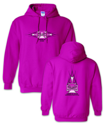 "Iron Cross Pink ""Breast Cancer"" Hoodie picture"