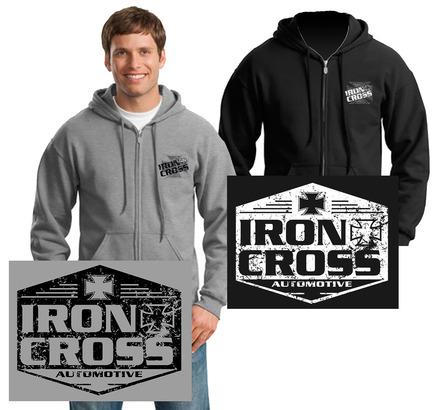 Iron Cross Full Zip Hoodies picture