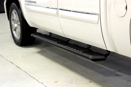 "Patriot Running Board Black Powder Coat 80"" Long picture"