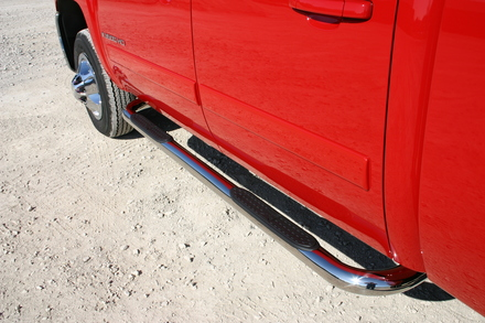 "51-718 - 3"" Tube Step, Stainless Steel, Cab Length TOYOTA Tundra Double Cab 07-15 picture"