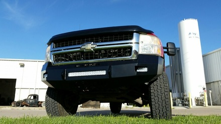 40-525-07 - 2007-2010 SILVERADO HD (2500/3500) HD Low Profile Front Bumper