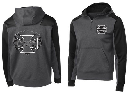 Iron Cross 1/4 Zip Fleece Hoodie picture