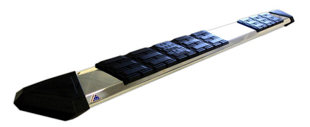 """8286 - Patriot Running Board Stainless Steel 86"""" Long picture"""