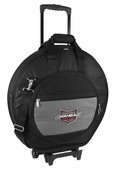DELUXE HEAVY DUTY CYMBAL CASE w/Wheels, Handles and Shoulder Strap
