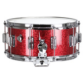 "Rogers Dyna-Sonic 6.5"" x 14"" Classic Snare Drum with Beavertail Lugs - Red Sparkle Lacquer"