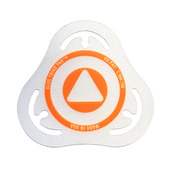 Slug Triad Pad Batter Badge Orange