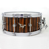 "Hendrix 14"" x 6"" High Gloss Macassar Ebony Snare Drum"