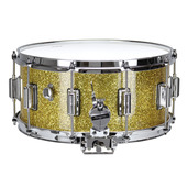 "Rogers Dyna-Sonic 6.5"" x 14"" Classic Snare Drum with Beavertail Lugs - Gold Sparkle Lacquer"