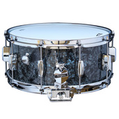 "Rogers Dyna-Sonic 6.5"" x 14"" Classic Snare Drum - Black Diamond Pearl"