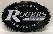 "Rogers Logo Metal Sign 12"" x 8"""