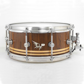 "Hendrix 14"" x 6"" Satin Walnut w/ Maple Inlay Snare Drum"
