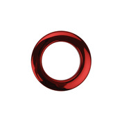 """Bass Drum O's 2"""" Red Chrome Drum O's (2 Pack)"""