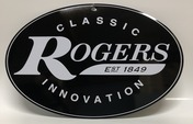 "Rogers Logo Metal Sign 12"" x 8"""