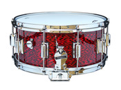 "Rogers Dyna-Sonic 6.5"" x 14"" Classic Snare Drum with Beavertail Lugs - Red Onyx"