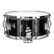"""Rogers Dyna-Sonic 6.5"""" x 14"""" Classic Snare Drum with Beavertail Lugs - Black Lacquer"""