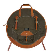 """Tackle Instrument Supply Forest Green Waxed Canvas Cymbal Case 24"""""""