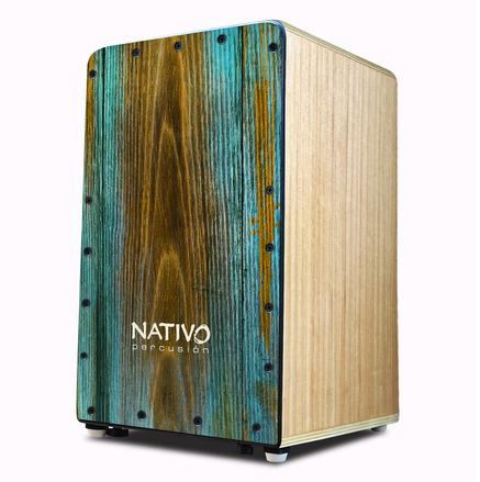 Nativo Percusion Studio Cajon with Dual Adjustable Snares - Syrah picture