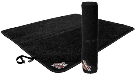 """DRUM MAT Double - 107"""" x 62"""" w/ Gel Back & Snap Lock Quick Release Handle picture"""