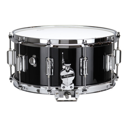 "Rogers Dyna-Sonic 6.5"" x 14"" Classic Snare Drum with Beavertail Lugs - Black Lacquer picture"