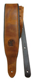 Minotaur Padded Leather Guitar Strap -  Camel