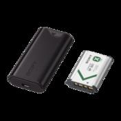 Ensemble pile et chargeur de voyage USB