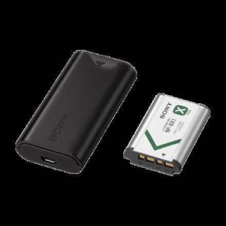 Ensemble pile et chargeur de voyage USB Image