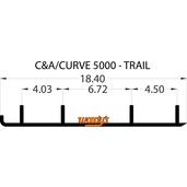 """ECA3-5000 - C&A  & Curve - 4""""X 60 Degree Carbide - 1 pair"""