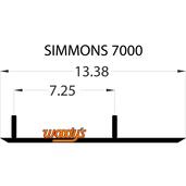 "TSM4-7000 - Simmons Flexi-Ski - Original and Gen II Ski 6"" X 60 Degree Carbide - 1 pair"