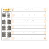 "COMB-TEMP - 121"" Track - 2 Ply - Card Stock - 1 pc."