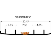 """TSD4-8250 - 6"""" X 60 Degree Carbide - 1 pair"""