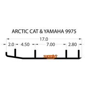 HSA-9975 - Hardweld Wear Bar - 1 pr.