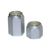 "ALN2-4500 - 5/16 - Big-Nut ""Short"" w/nylon insert - Aluminum 24 pc."