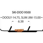 "SS6-9500 - Slim Jim - 6""X 60 Degree Carbide - 1 piece"
