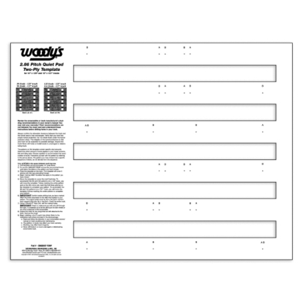 "286QUIET-TEMP - 2.86 Pitch Quiet Pad - 129"" & 137"" Track - 2-Ply - 1 pc. picture"