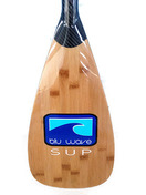 Blu Wave Adjustable Carbon Fibre / Bamboo SUP Paddle