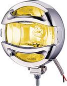 "6"" CHROME 100 WATT HALOGEN EURO BEAM LAMP WITH ROCK GUARD"