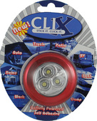 RED BATTERY POWERED 3 LED CLIX POD