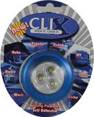 BLUE BATTERY POWERED 3 LED CLIX POD