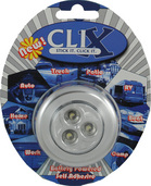 CHROME BATTERY POWERED 3 LED CLIX POD